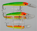"XTackle XTDR6-03 6"" Red Hot Tiger Deep Diving Crankbait"