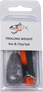4 oz Trolling Weight and Snap Clips