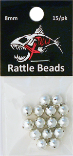 Chrome Rattle Beads 8mm