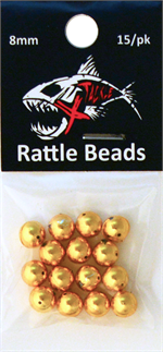 Gold Rattle Beads 8mm