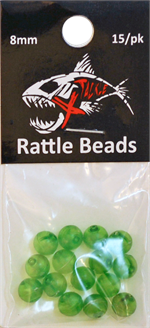 Lime Green Rattle Beads 8mm