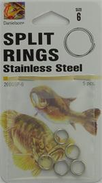 Madcat Split Rings o 100lb 10mm 12mm 16 St/ück//Pack geschmiedete Black Nickel Sprengringe aus japanischem Edelstahl 150lb