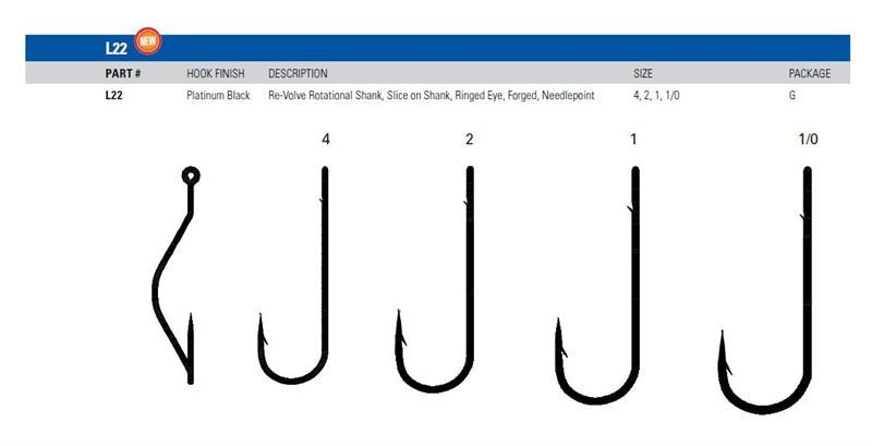 Eagle Claw Trokar Re-Volve Rotational Shank Fishing Hook