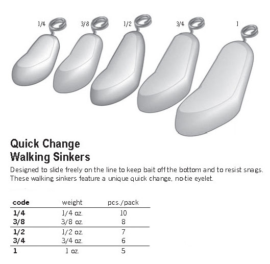 5//8oz Walking Sinker Free Ship