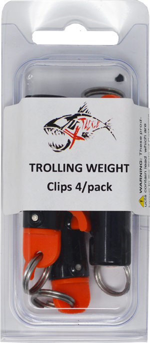 Trolling Snap-Clips 4/pack