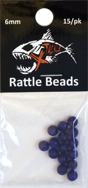 6mm Blue Rattle Bead