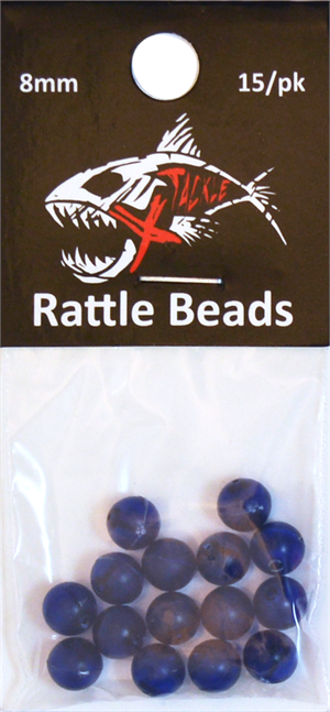 Blue Rattle Beads 8mm