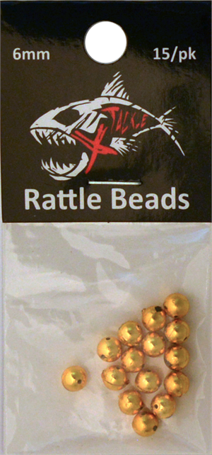 Gold Rattle Beads 6mm