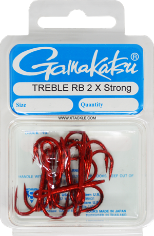 Gamakatsu 2X Strong Red Trebles