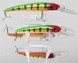 "XTackle XTDR6-SP68 6"" Metallic Red Hot Tiger Deep Diving Crankbait"