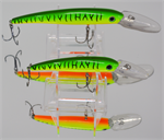 "XTackle XTDR6-01 6"" Green Hot Tiger Deep Diving Crankbait"