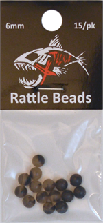 6mm Black Rattle Bead
