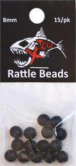 Black Rattle Beads 8mm