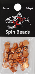 XTackle Spin Beads 8mm Copper 10/pk