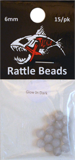 Glow Rattle Beads 6mm