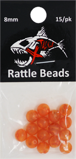 Xtackle Lava Orange Rattle Beads 8mm