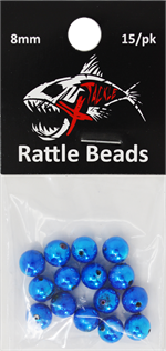 Xtackle Blue Chrome Rattle Beads 8mm