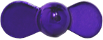 XTackle Spin Beads 8mm Purple Chrome 10/pk