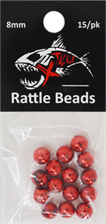 Xtackle Red Chrome Rattle Beads 8mm