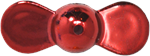 XTackle Spin Beads 6mm Red Chrome 10/pk