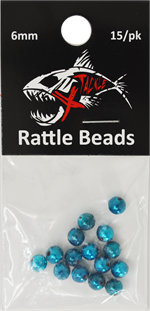 Xtackle Teal Chrome Rattle Beads 6mm