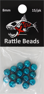 Xtackle Teal Chrome Rattle Beads 8mm