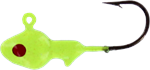 Big Bite Baits Minnow Head Jig, Chartreuse/Red Eye