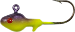 Big Bite Baits Minnow Head Jig, Purple/Chartreuse