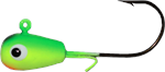 Big Bite Baits Pill Jig, Green/Chartreuse/Orange