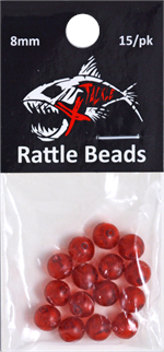 Ruby Red Rattle Beads 8mm