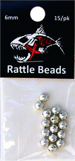 6mm Chrome Rattle Bead