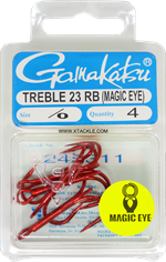 Gamakatsu Treble 23 Magic Eye 2X Strong (Red)