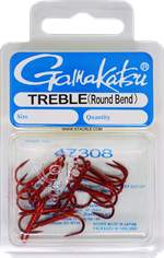 Gamakatsu Round Bend Trebles Red